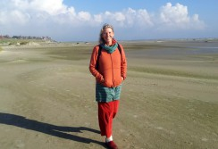 Christel am Strand Amrum 2015